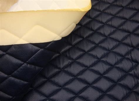 navy quilted vinyl fabric with 3 8 quot foam backing upholstery