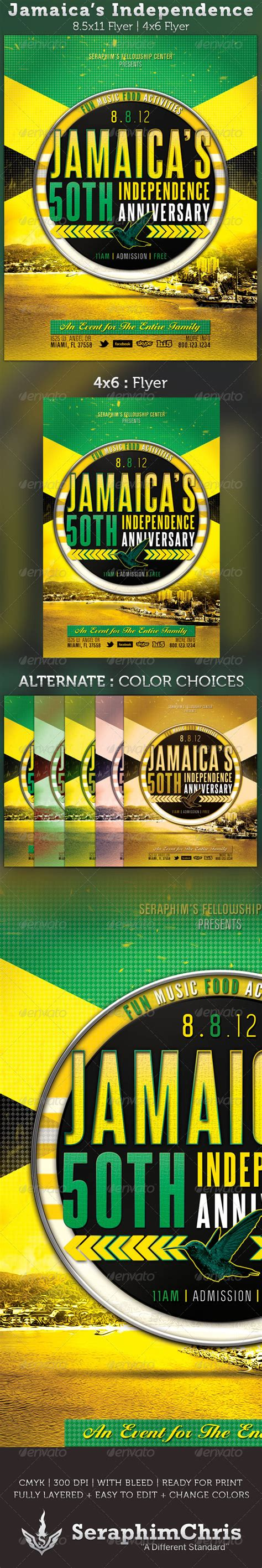 flyer design jamaica jamaica s independence flyer template graphicriver