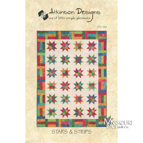 Quilting Company by Strips Jelly Roll Quilt Pattern Atkinson Designs