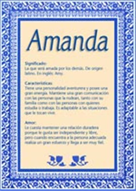 amanda, significado del nombre amanda tuparada.com