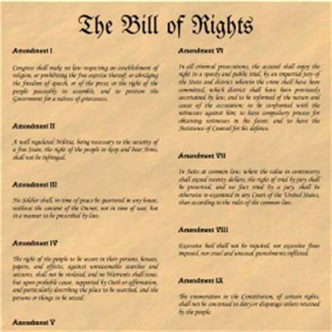 printable version of the us bill of rights free printable constitution and other founding documents