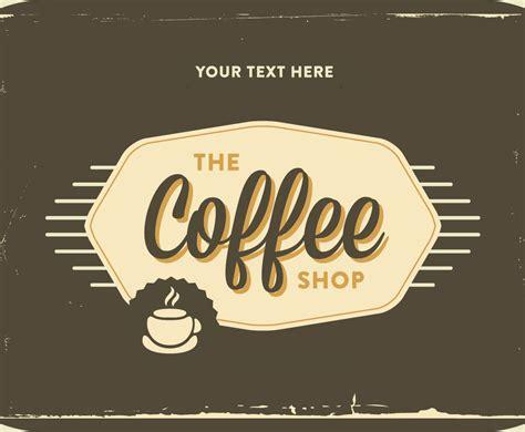 coffee shop vector design retro coffee shop logo vector vector art graphics