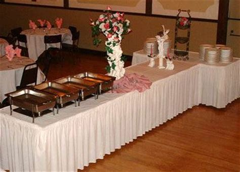 How To Make Buffet Table Skirting Buffet Table Set Up Shirred Pleat Skirting