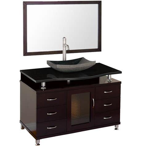 48 black bathroom vanity accara 48 quot bathroom vanity with drawers espresso w