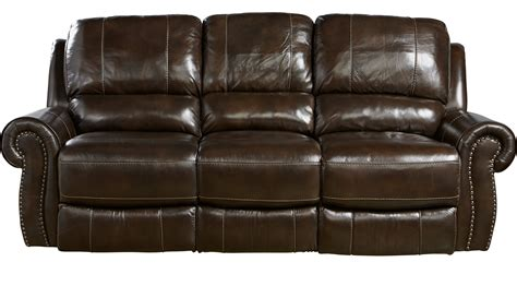 Brown Leather Reclining Sofa by 1 455 00 Frederickburg Brown Leather Power Reclining