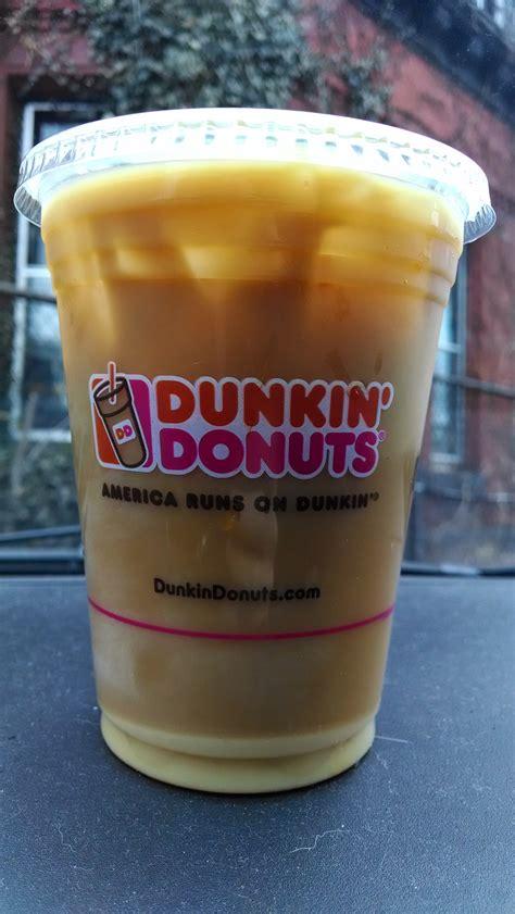 Coffee Dunkin Donut brown sugar cinnamon iced coffee dunkin donuts