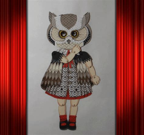 my owl barn jo james paper doll with owl mask my owl barn jo james paper doll with owl mask