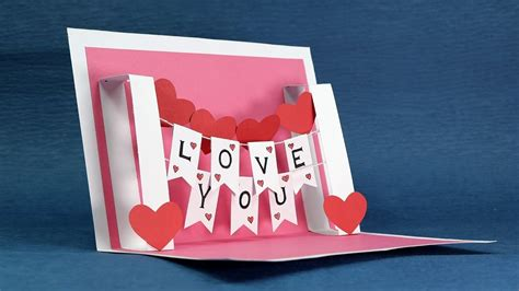 diy i you pop up card template how to make handmade pop up cards larissanaestrada