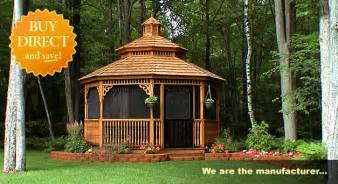 Enclosed Pergola Pictures by Screened Gazebos Amish Country Gazebos