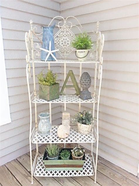 etagere shabby chic shabby chic bakers rack up only etagere by