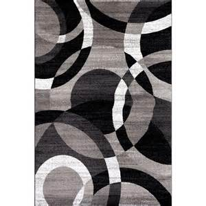 Modern Grey Rug World Rug Gallery Contemporary Modern Circles Abstract Gray 3 Ft 3 In X 5 Ft Indoor Area Rug