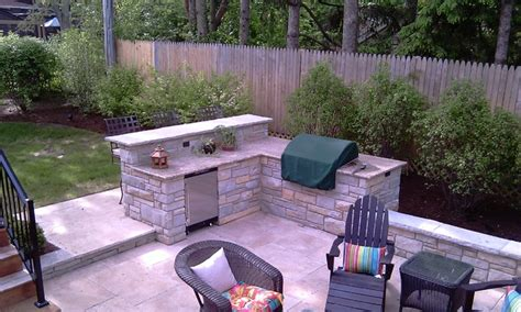 Fireplace Built In Grill With Bar Traditional Patio Backyard Grill And Bar