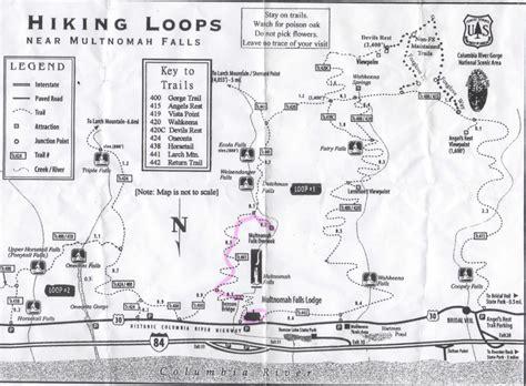 multnomah falls trail map portland oregon part iii escaping travelgumbo