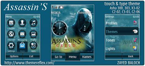 themes nokia asha 303 assassins theme for nokia asha 303 300 x3 02 and touch