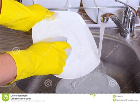 washing dishes in bathroom sink washing dish stock photo image 51895240
