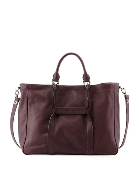 Tas Longch 3d 2 longch 3d large leather tote bag bilberry