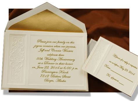 Golden Wedding Invitation Sle by Sle Invitation Letter For 50th Wedding Anniversary