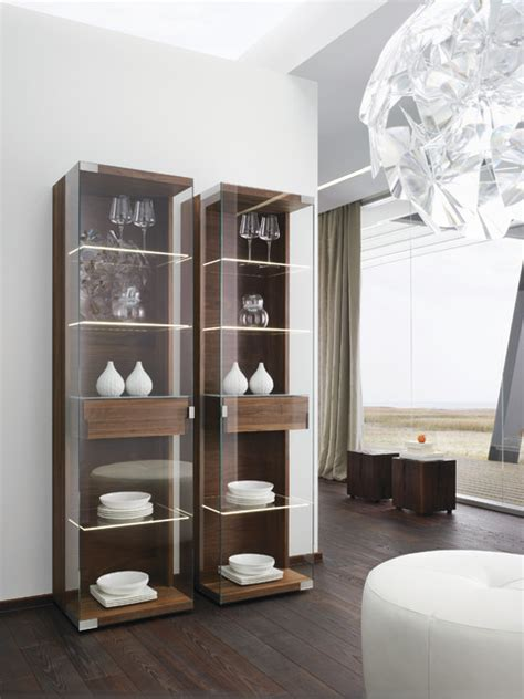 modern display cabinets nox walnut modern display cabinets modern sideboards by wharfside