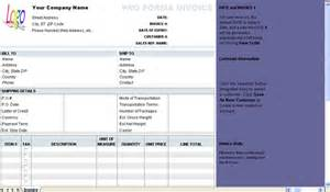free proforma invoice template download