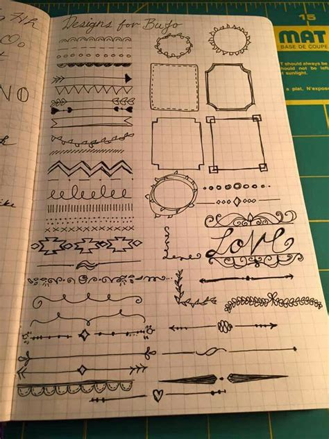 doodle page ideas doodle inspiration page in bujo journal inspiration