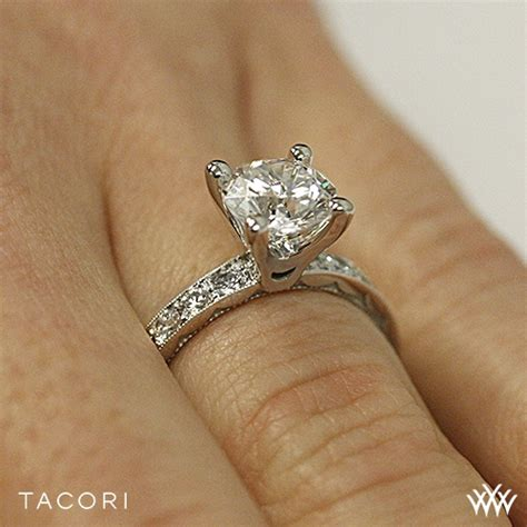 tacori 41 3 rd sculpted crescent lace engagement