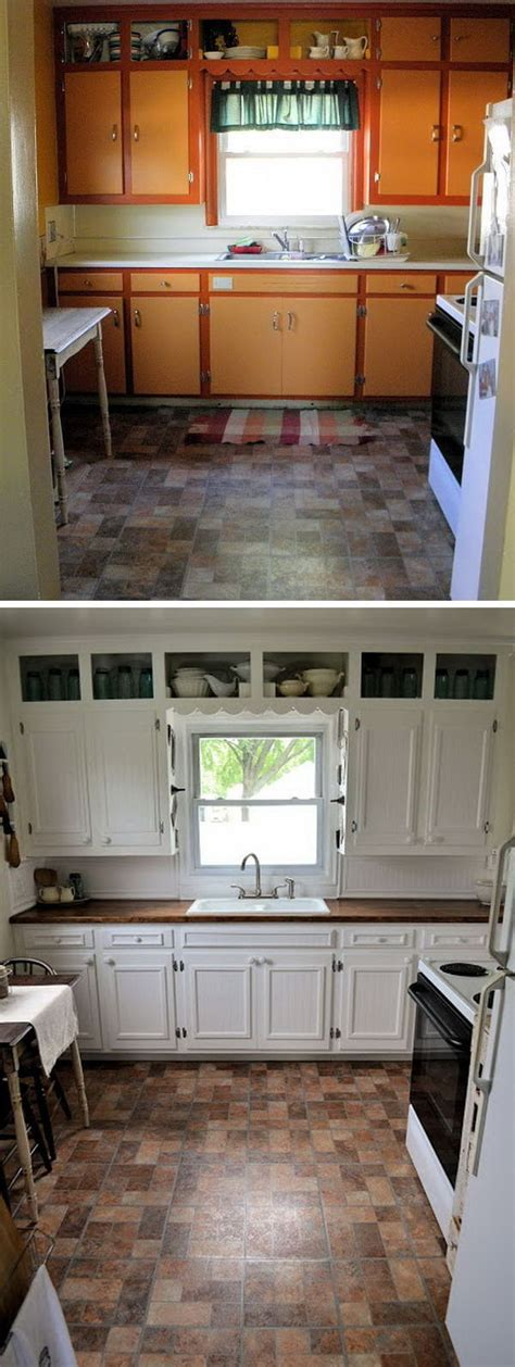How To Remodel Kitchen Cabinets Cheap by Before And After 25 Budget Friendly Kitchen Makeover