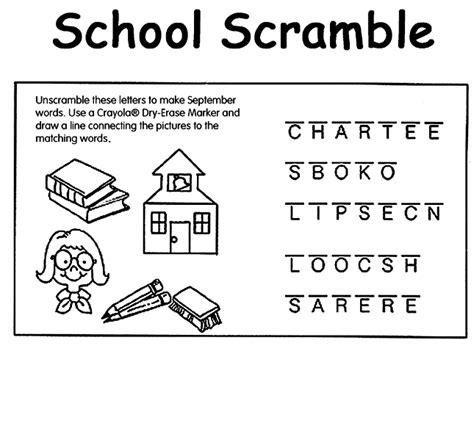 crayola coloring pages back to school school scramble coloring page crayola com