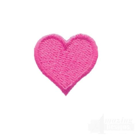 heart embroidery pattern 1 inch fill stitch heart