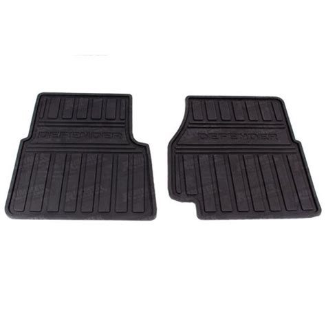 Range Rover Rubber Floor Mats by Land Rover Front Floor Rubber Mat Set Defender Lr005039