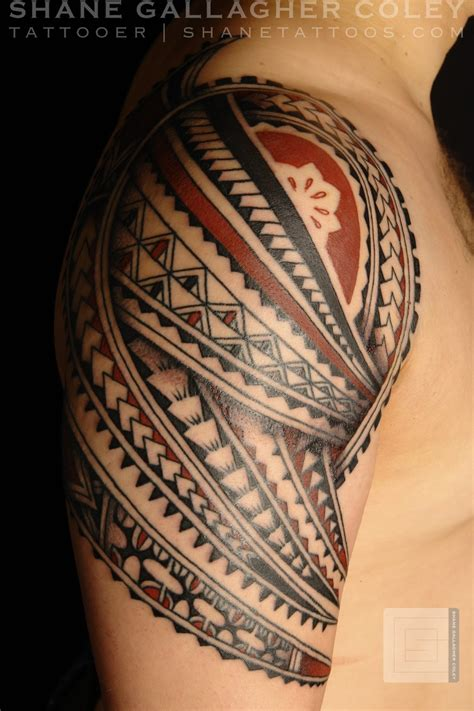 polynesian shoulder tattoo shane tattoos polynesian shoulder tatau