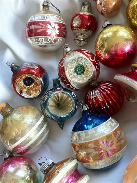 vintage glass christmas ornaments old world