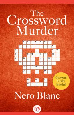 readalot: the crossword murder by nero blanc (crossword