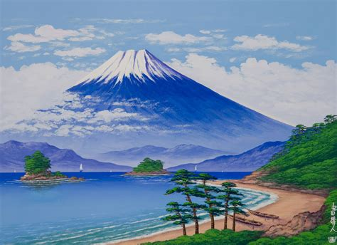 painting montana image gallery mount fuji artwork