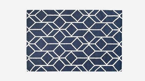 découvrez geo tapis bleu marine sur hem.com. design haut