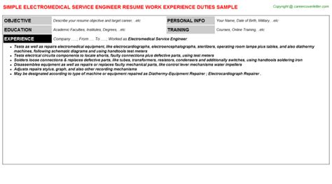 Mri Field Service Engineer Sle Resume by Mri Field Service Engineer Resume