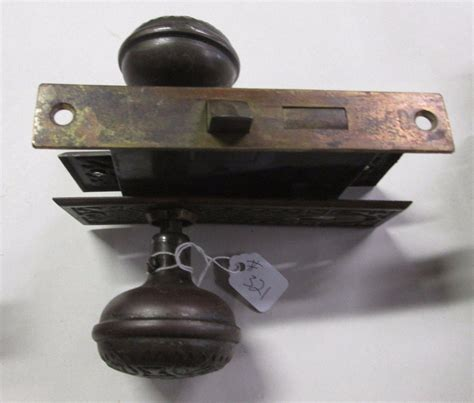 Combination Door Knob by Complete Set Antique Door Knob Combination W