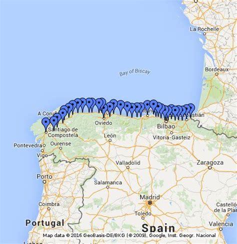 camino way map camino santiago norte northern way camino de
