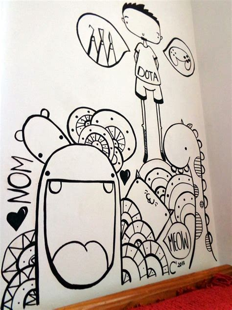 doodle on wall wall doodle by sneakypictures on deviantart