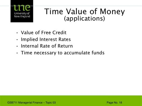 Time Value Of Money Notes For Mba by Gsb711 Lecture Note 03 The Time Value Of Money