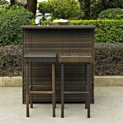 outdoor bar set outside tiki wicker table patio kitchen