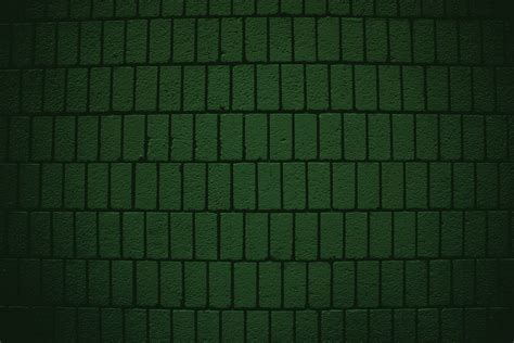 Chocolate Teal Curtains Dark Green Brick Wall Texture With Vertical Bricks Picture