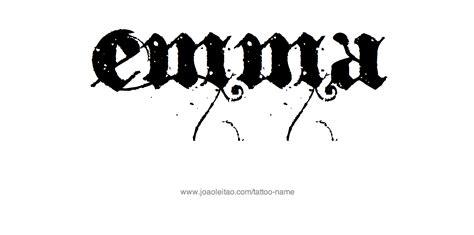 tattoo name emma emma name tattoo designs