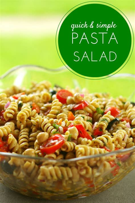 Great Pasta Salad Recipes by Quick Simple Pasta Salad Recipe Homemade Salads And