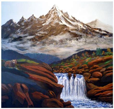 A7962 Paint Cat Air 12 Warna ilustrasi gratis cat warna pegunungan seni gambar