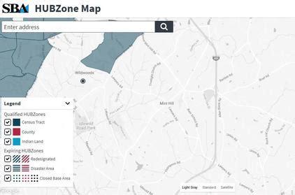 sba hubzone map sba tar heel business briefs july 2017
