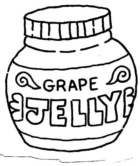 peanut butter and jelly coloring pages clipart best