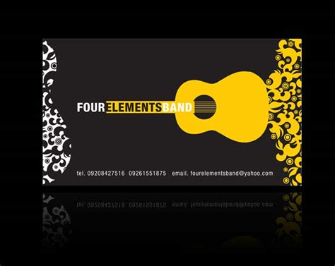band cards four elements band business card 2007 by nollzzju on