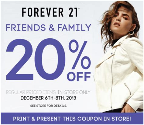 Forever 21 Gift Card Promo Code - forever21 canada friends family sale 20 off coupon valid dec 6 8 canadian