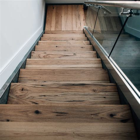 longleaf lumber reclaimed hickory stair treads for custom staircase