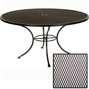 60 Patio Table Ow Standard Mesh 60 Inch Dining Table With Umbrella Furniture For Patio